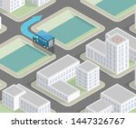 city map route navigation... | Shutterstock .eps vector #1447326767