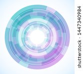 geometric frame from circles ... | Shutterstock .eps vector #1447340984
