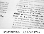 Small photo of Word or phrase Filch in a dictionary