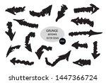 set of different grunge brush... | Shutterstock .eps vector #1447366724