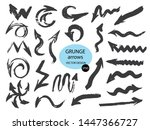 set of different grunge brush... | Shutterstock .eps vector #1447366727