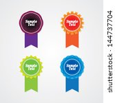 colorful set of abstract labels | Shutterstock .eps vector #144737704