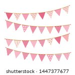 Pink Bunting  Design Elements...