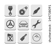 car part icons | Shutterstock .eps vector #144738091