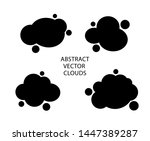 set abstract clouds or liquid... | Shutterstock .eps vector #1447389287