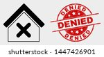 vector closed house icon and... | Shutterstock .eps vector #1447426901