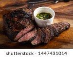 Grilled and sliced tri tip steak