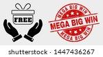 vector hands give gift... | Shutterstock .eps vector #1447436267