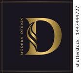 elegant capital letter d.... | Shutterstock .eps vector #1447444727