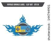 fire art label blue console | Shutterstock .eps vector #144744901