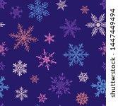 christmas seamless pattern of... | Shutterstock .eps vector #1447449494