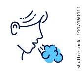 allergy symptoms line color... | Shutterstock .eps vector #1447460411