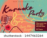 karaoke party design in vintage ... | Shutterstock .eps vector #1447463264
