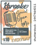karaoke poster design in... | Shutterstock .eps vector #1447464011