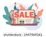 sale. online shopping set. flat ...