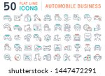 set of vector line icons of... | Shutterstock .eps vector #1447472291
