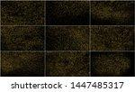 set of gold glitter texture...   Shutterstock .eps vector #1447485317