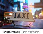 tuk tuk taxi in city night...   Shutterstock . vector #1447494344