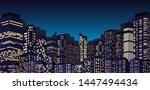 night city skyline background ...   Shutterstock .eps vector #1447494434