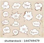 set of hand drawn speech... | Shutterstock .eps vector #144749479