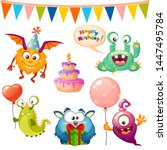 set of cute cartoon monster....