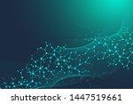 scientific molecule background... | Shutterstock . vector #1447519661
