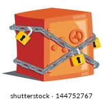 safe with locks | Shutterstock .eps vector #144752767