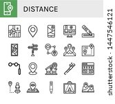 set of distance icons such as... | Shutterstock .eps vector #1447546121
