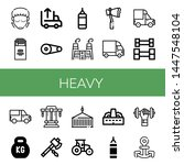 set of heavy icons such as... | Shutterstock .eps vector #1447548104