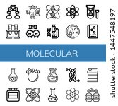 set of molecular icons such as... | Shutterstock .eps vector #1447548197