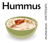 hummus traditional arabic food... | Shutterstock .eps vector #1447552691