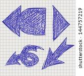 set of vector elements in hand... | Shutterstock .eps vector #144757219