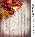 Vintage Autumn Border From...