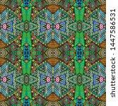 ikat art. african seamless...   Shutterstock . vector #1447586531