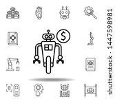 robotics robot outline icon....