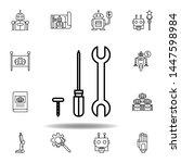 robotics repair outline icon....