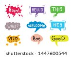 hand drawn set of colorful... | Shutterstock .eps vector #1447600544