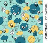 cute seamless pattern with... | Shutterstock .eps vector #1447606001