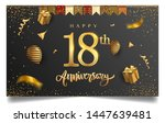 18th years anniversary design... | Shutterstock .eps vector #1447639481
