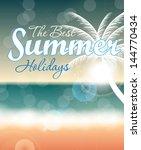 summer holidays vector... | Shutterstock .eps vector #144770434