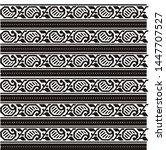 textile border design art for... | Shutterstock . vector #1447707527