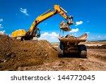industrial truck loader... | Shutterstock . vector #144772045