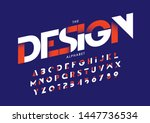 vector of stylized modern font... | Shutterstock .eps vector #1447736534