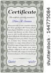 green certificate template   Shutterstock .eps vector #144775084