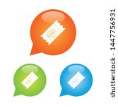 ticket marker icon round bubble | Shutterstock .eps vector #1447756931