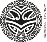 traditional maori taniwha... | Shutterstock .eps vector #144778729