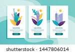 mobile page set offer vacation... | Shutterstock .eps vector #1447806014