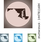 vector map of the maryland   Shutterstock .eps vector #1447811684