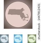 vector map of the massachusetts   Shutterstock .eps vector #1447812431
