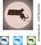 vector map of the massachusetts   Shutterstock .eps vector #1447812434